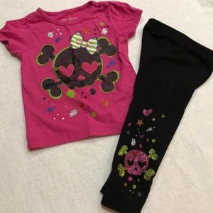 Baby girls Halloween skull sparkle outfit 12-18